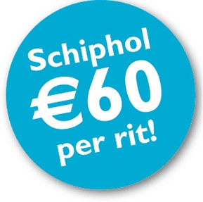 schiphol 60 euro per rit taxinext